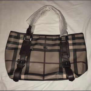 Brown Burberry Tote